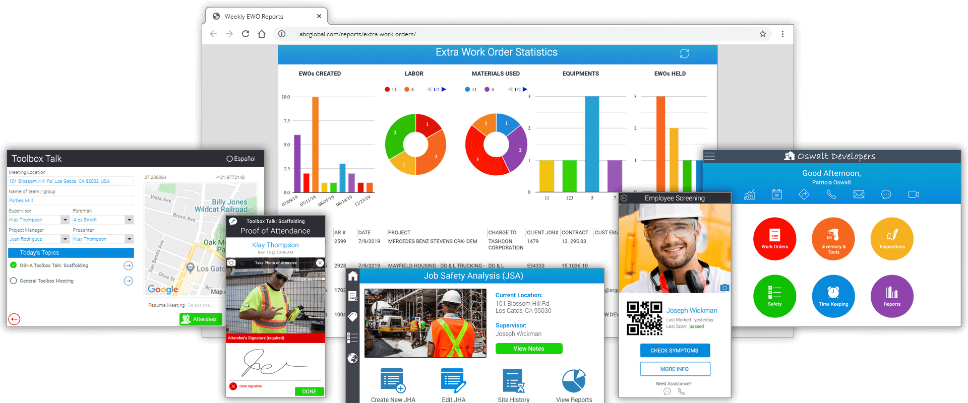 Toolbox Talk App & Other App Screenshots