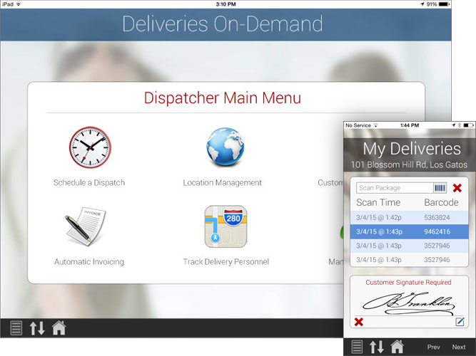 Delivery software: proof of delivery (POD), courier software, route-based deliveries, on-demand deliveries