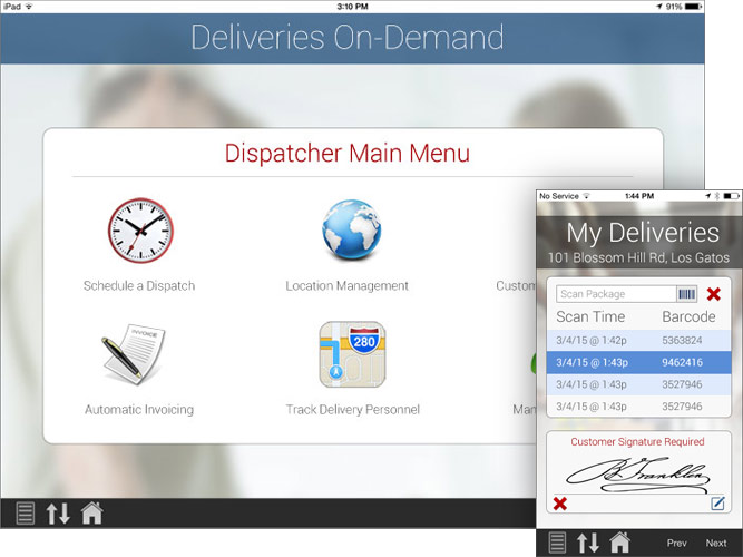 Delivery Software screenshots