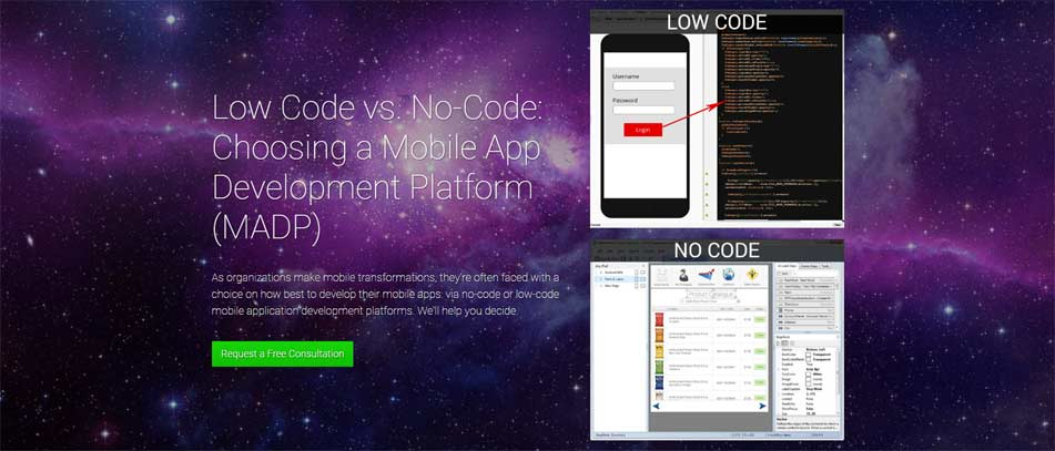 Low code vs no code mobile app development platforms